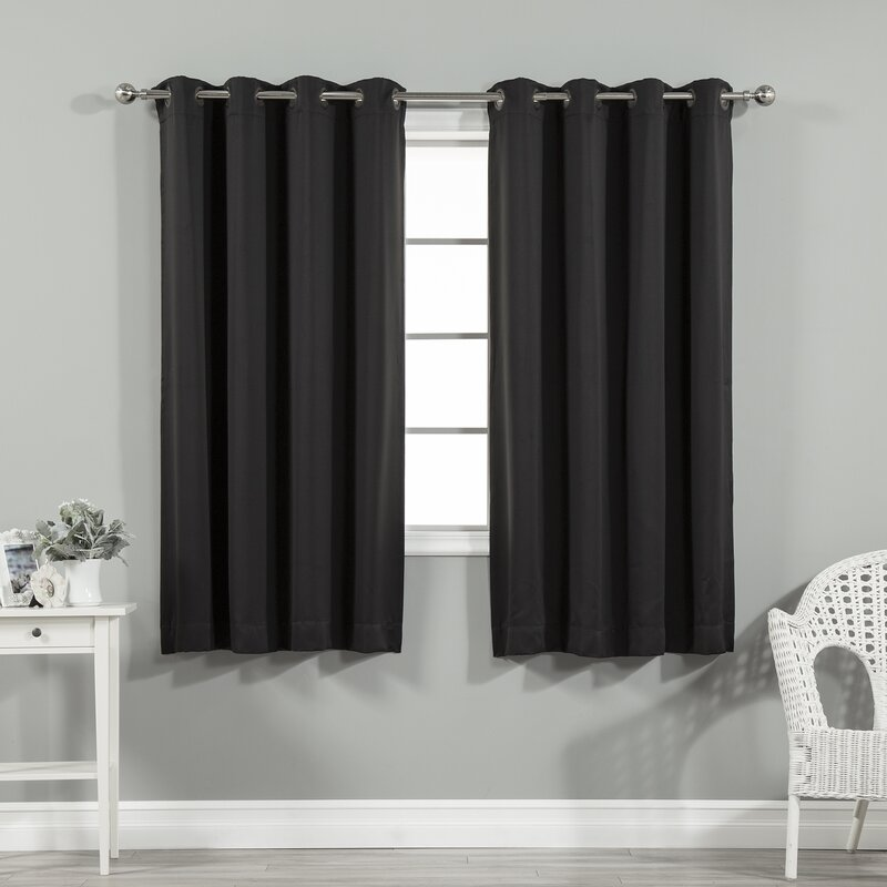 Charcoal Black curtains for lavender and purple wall