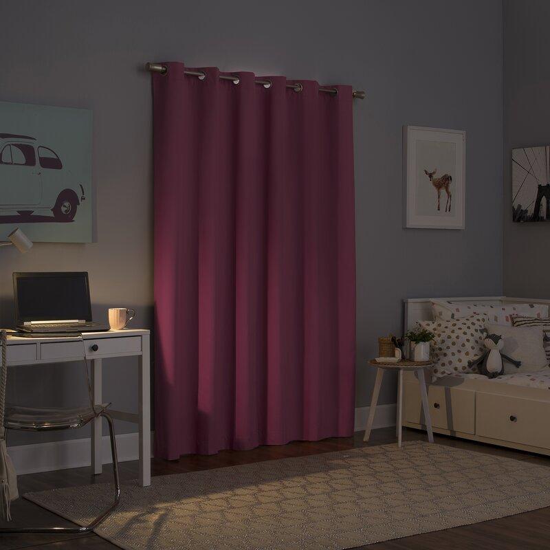 Dark Plum Curtains for Purple Wall Interior