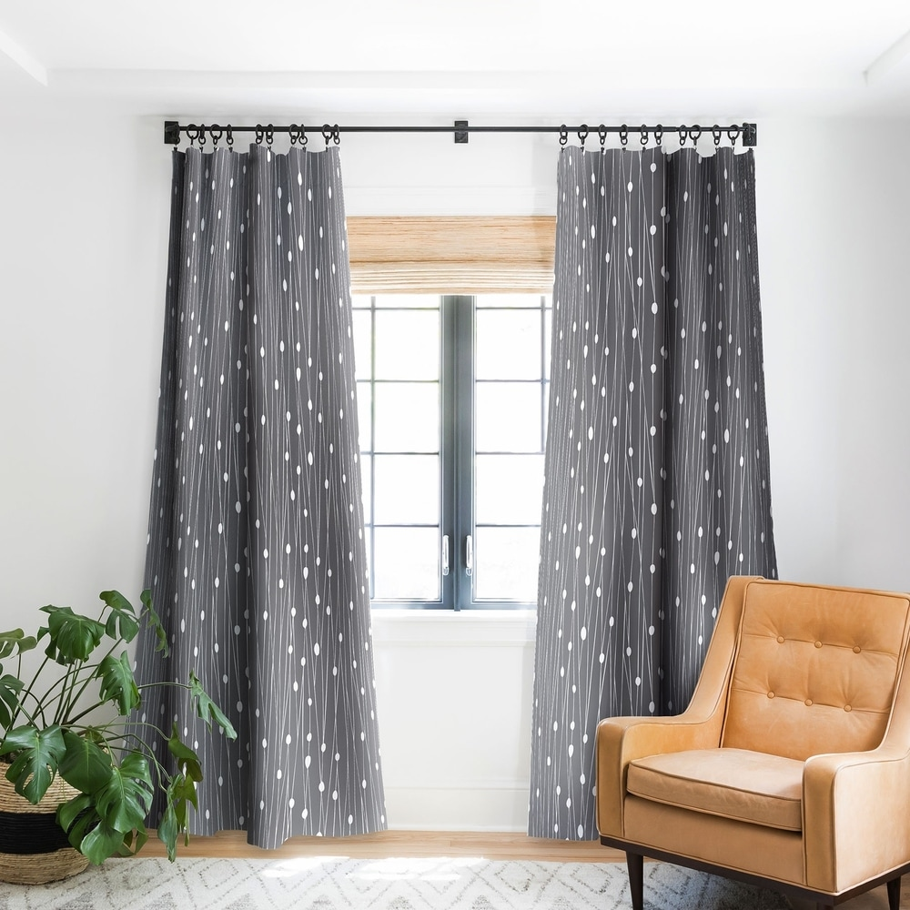 Grey curtains for wood color