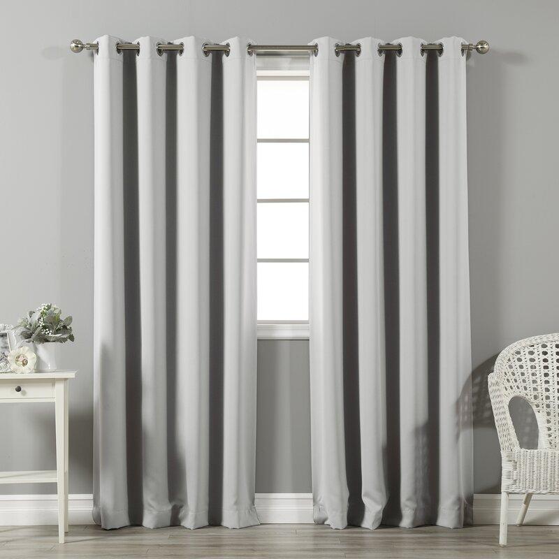 Light Grey curtains for Burgundy interior
