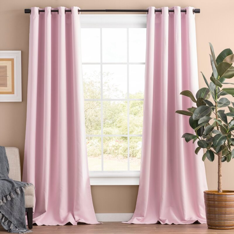 Light Pink Solid Blackout Curtains for Purple wall