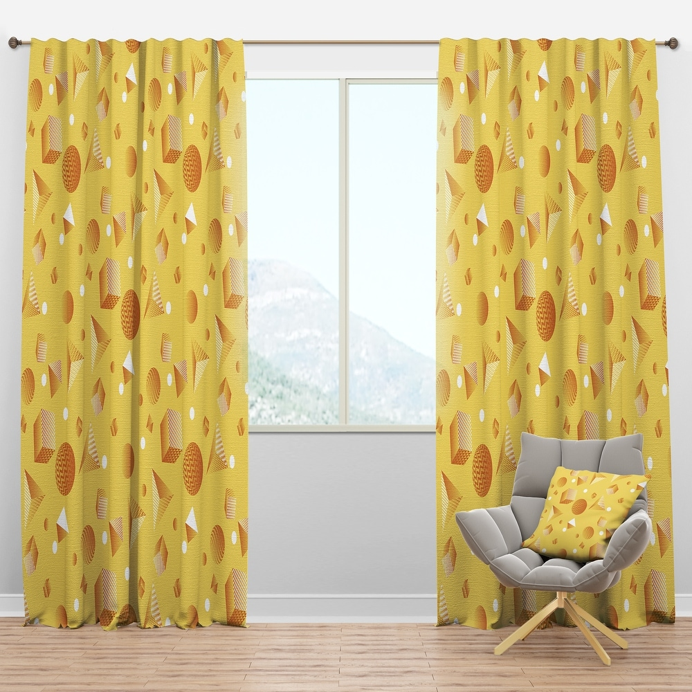 Mellow Yellow curtains for wood color wall