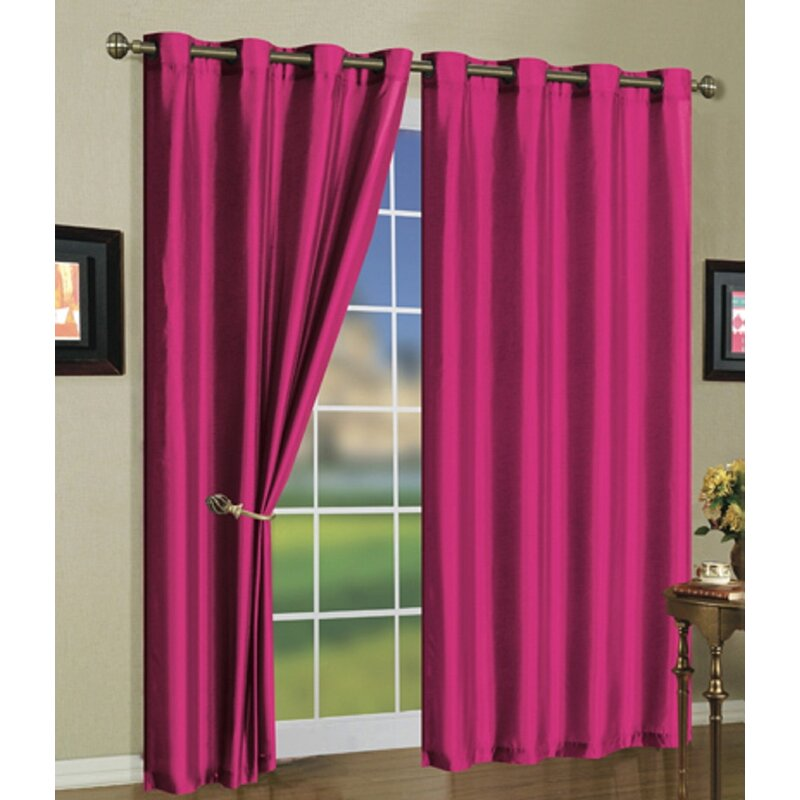 Metallic Rose Gold Curtains