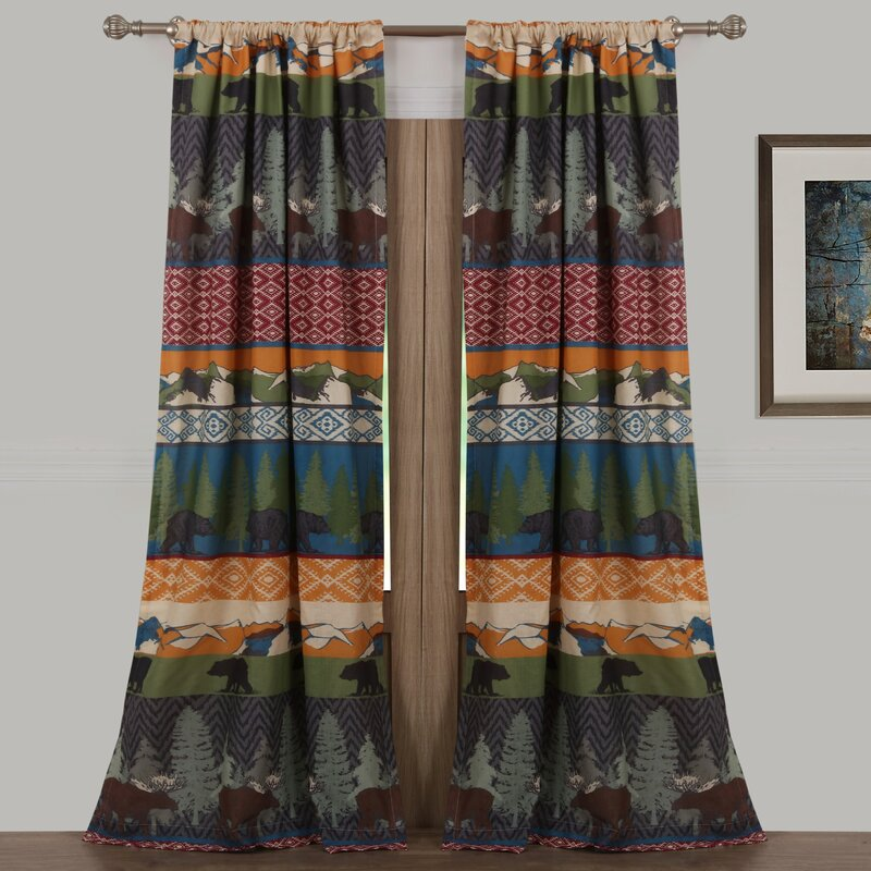 Multicolored Wildlife Curtain for orange color
