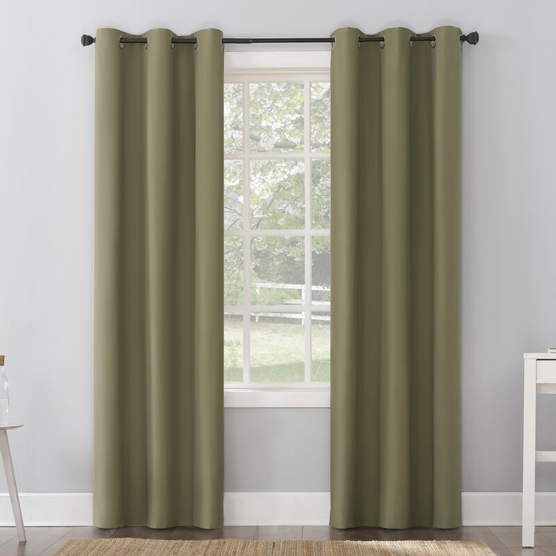 Olive Green Curtains for light purple wall