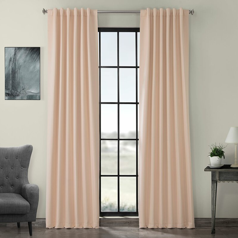 Orange Peach color curtains