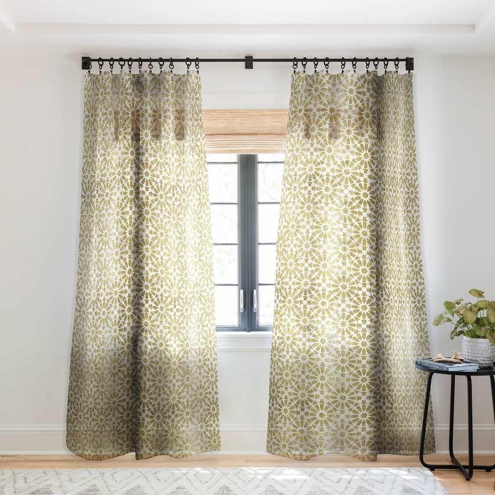 Tan Golden Curtains for orange walls
