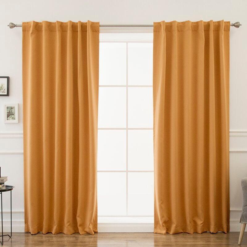 Tangerine Yellow curtains