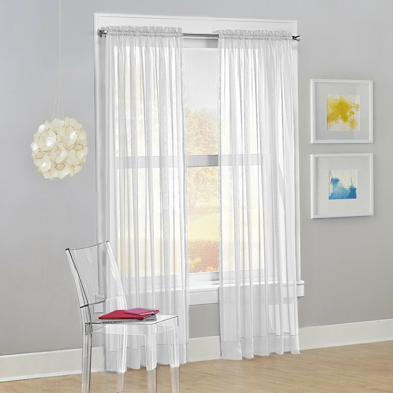 white curtains for orange wall