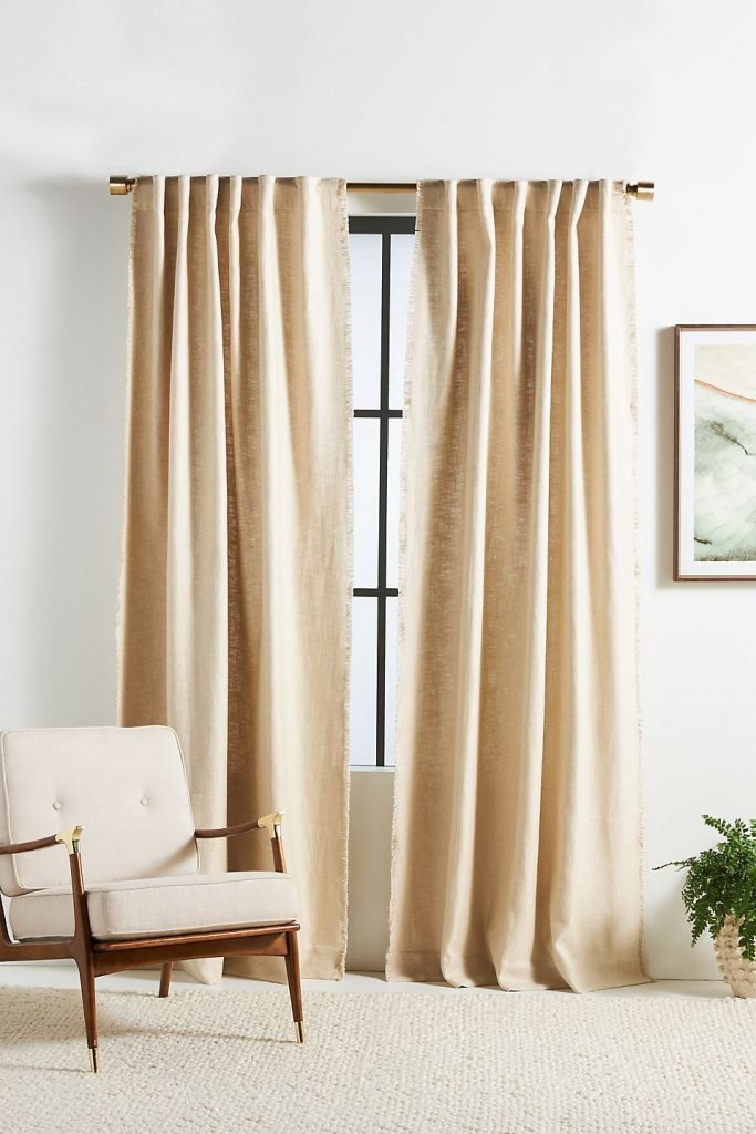 Beige Color Curtains for ivory walls