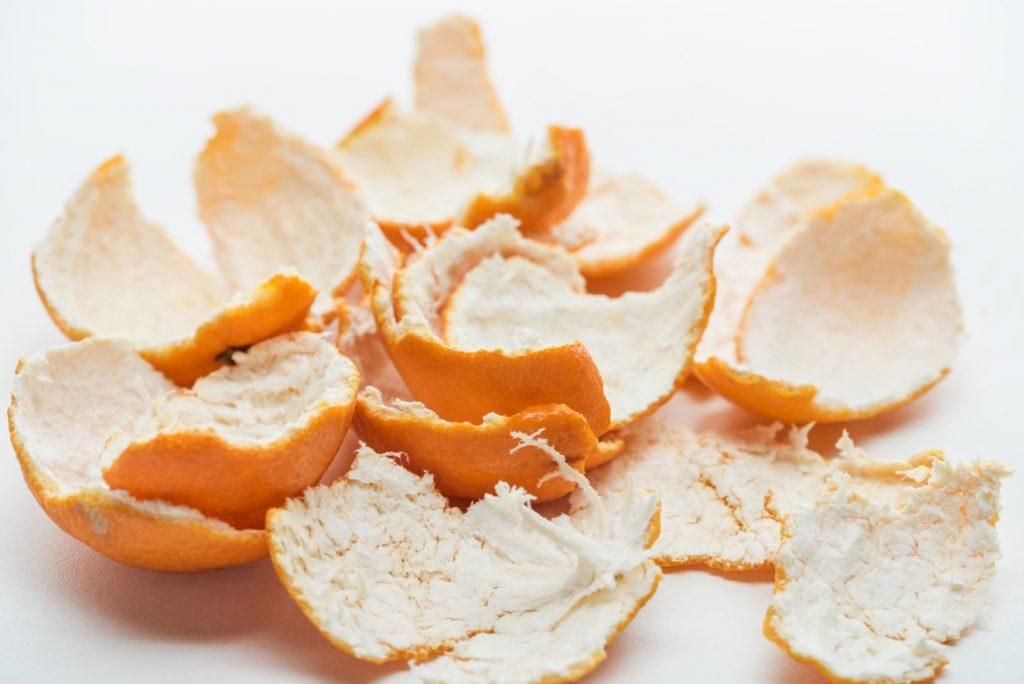 small pieces of orange peel